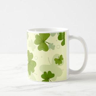 Shamrocks Background Mugs
