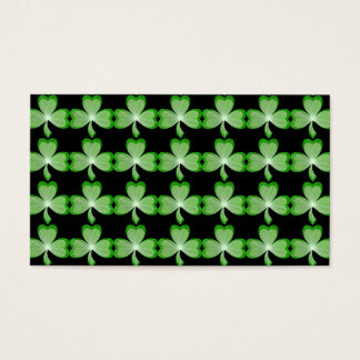 Shamrocks Black card