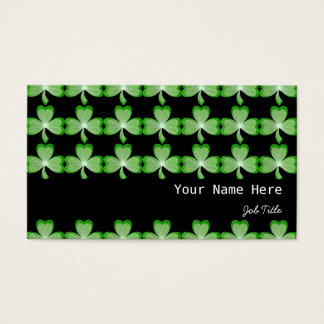 Shamrocks Black stripe black Business Card