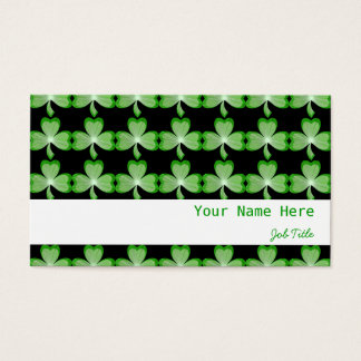Shamrocks Black stripe white Business Card
