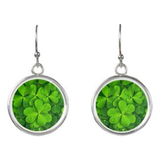 Shamrocks Clover Leaves St. Patrick's Day Festive Earrings