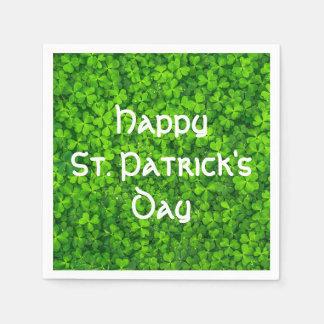 Shamrocks Clover Leaves St. Patrick's Day Party Paper Serviettes