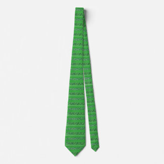 Shamrocks Design  Green Tie
