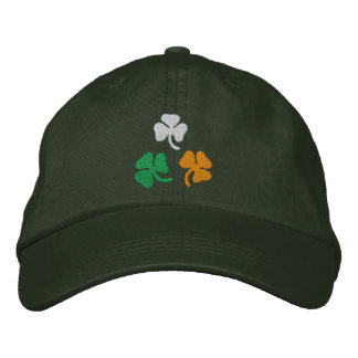Shamrocks Embroidered Baseball Caps