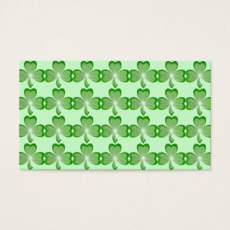 Shamrocks Green business card