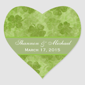 Shamrocks Green Irish Wedding Stickers