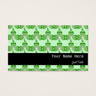 Shamrocks Green stripe black Business Card