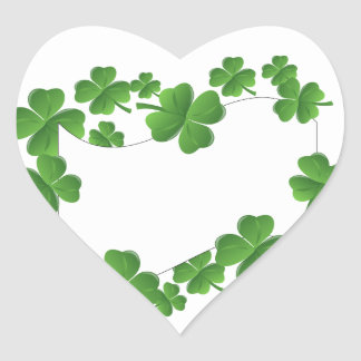 Shamrocks Heart Sticker