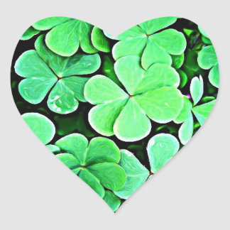 Shamrocks! Heart Sticker