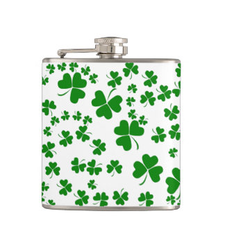 Shamrocks Hip Flask