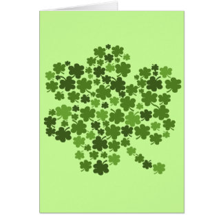 Shamrocks in a Shamrock Card