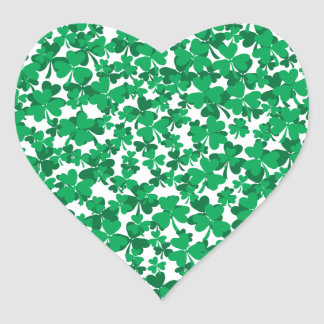 shamrocks, Ireland, Irish, proud to be Irish Heart Sticker