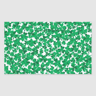 shamrocks, Ireland, Irish, proud to be Irish Rectangular Sticker