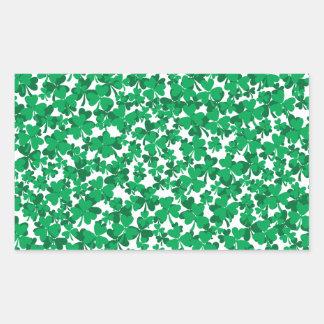 shamrocks, Ireland, Irish, proud to be Irish Rectangular Sticker