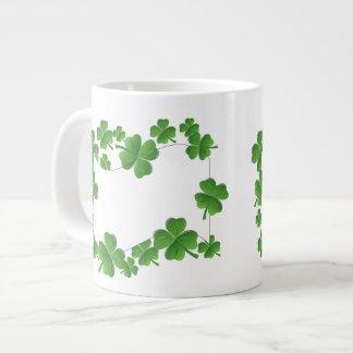 Shamrocks Large Coffee Mug
