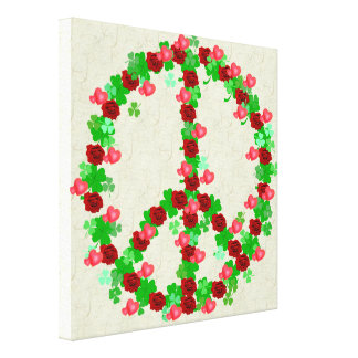 Shamrocks, Roses, and Hearts Stretched Canvas Prints