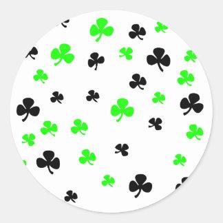 Shamrocks Round Stickers