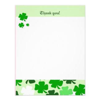 SHAMROCKS St Patricks day 4x5 Flat Thank you note Personalized Invites