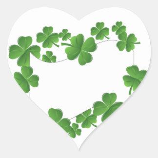 Shamrocks Heart Sticker