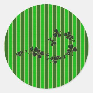 shamrocks round sticker