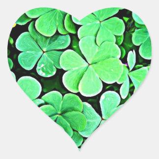 Shamrocks! Heart Sticker