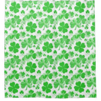 Shamrocks Tattoo seamless pattern + your ideas Shower Curtain