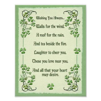Shamrocks Wishing You Always... Poster