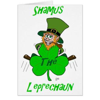 Shamus the Leprechaun Card