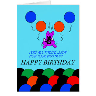 Shan Cat birthday card