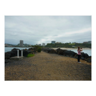Shan in a Cloudy Day at Duranbah Poster