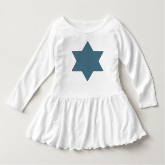 Shana Tova Blue Star Toddler Ruffle Dress