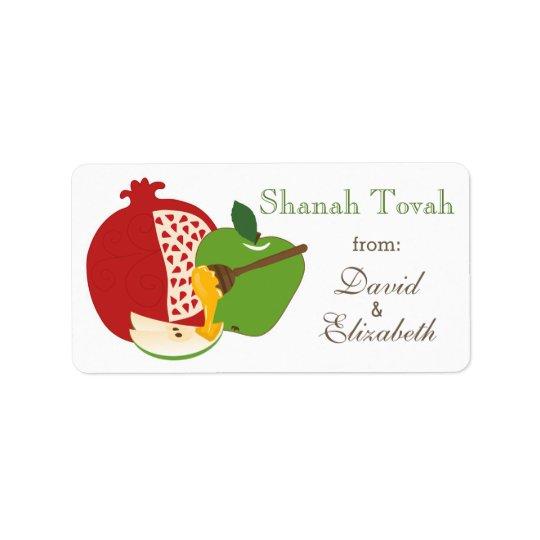 Shana Tova Rosh Hashanah Jewish New Year Address Label
