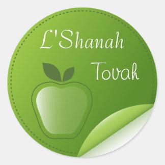 Shanah Tovah Rosh Hashanah Jewish New Year Round Sticker
