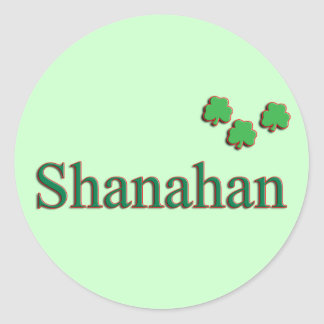 Shanahan Family Round Sticker