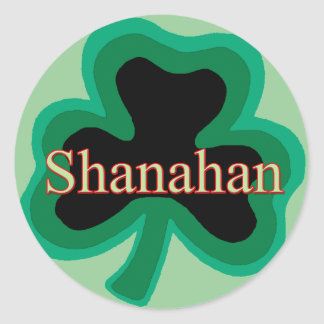 Shanahan Family Classic Round Sticker