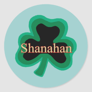 Shanahan Family Round Stickers