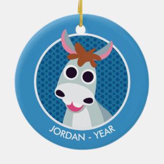 Shane the Donkey Christmas Ornament