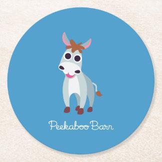 Shane the Donkey Round Paper Coaster