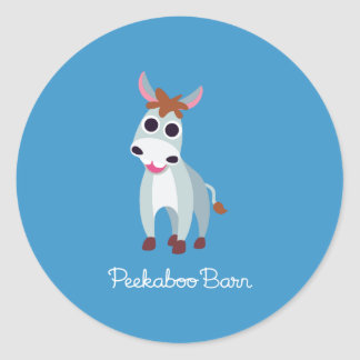 Shane the Donkey Round Sticker