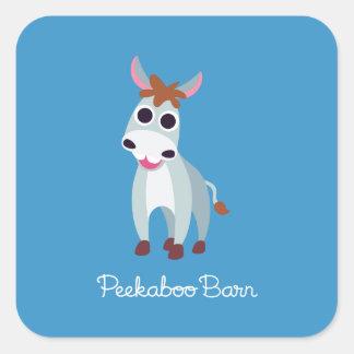 Shane the Donkey Square Sticker