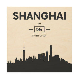 Shanghai, China | City Coordinates Wood Wall Decor