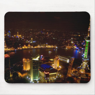 Shanghai China wonderful skyline with modern Mouse Mat