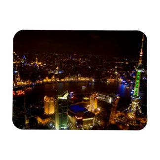 Shanghai China wonderful skyline with modern Rectangular Photo Magnet