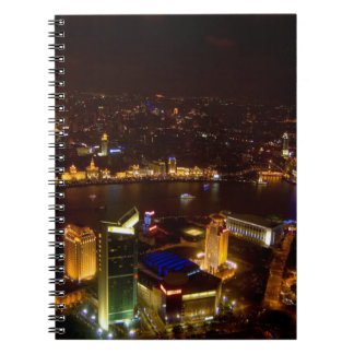 Shanghai China wonderful skyline with modern Spiral Notebook