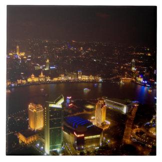 Shanghai China wonderful skyline with modern Tile