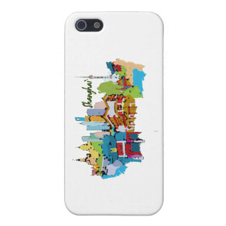 shanghai city watercolored muted colors design.png iPhone 5/5S cover