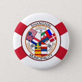Shanghai International Settlement, China 6 Cm Round Badge