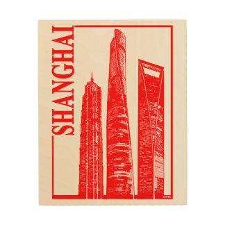 Shanghai Wood Print