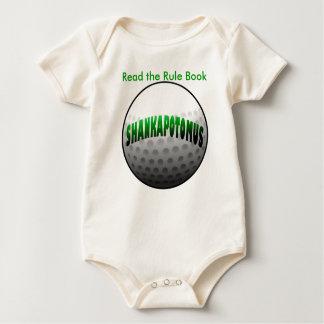 Shankapotomus  green baby bodysuit