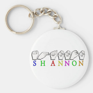 SHANNON  ASL FINGERSPELLED SIGN BASIC ROUND BUTTON KEY RING